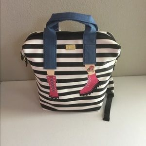 Betsey Johnson large stripe tote/backpack